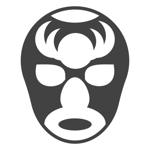 Luchador mask horn detailed silhouette Transparent PNG