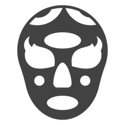Luchador mask oval detailed silhouette