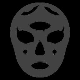 Silhueta detalhada oval de máscara de Luchador