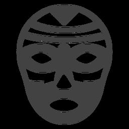 Luchador mask rhomb detailed silhouette