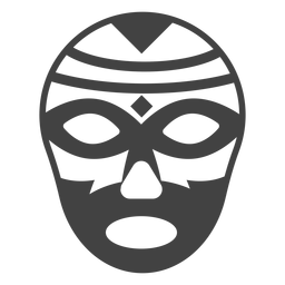 Luchador Maske Raute detaillierte Silhouette