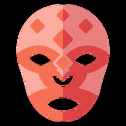 Luchador máscara rombo plano