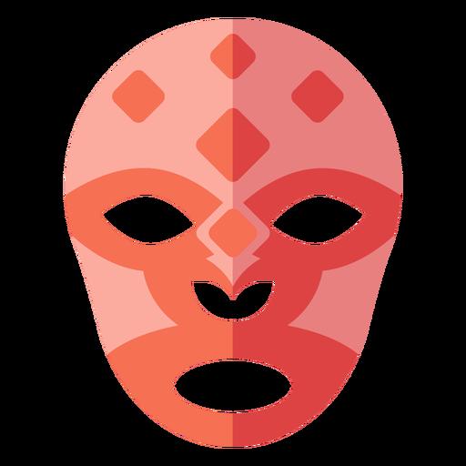 Luchador mask rhomb flat Transparent PNG