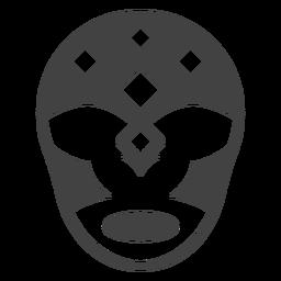 Luchador máscara rhomb silhueta detalhada