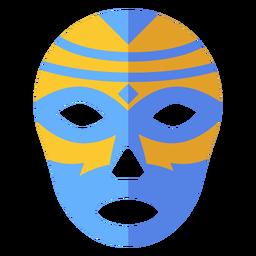 Luchador Maske Rautenstreifen flach
