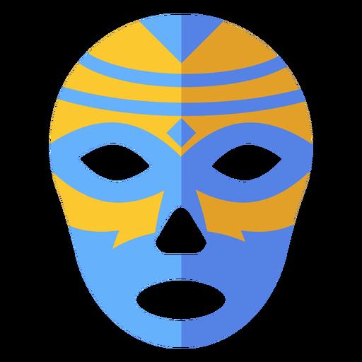 Luchador máscara rhomb listra plana Transparent PNG
