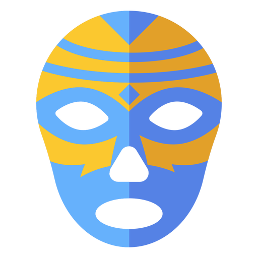 Luchador mask rhomb stripe flat Transparent PNG
