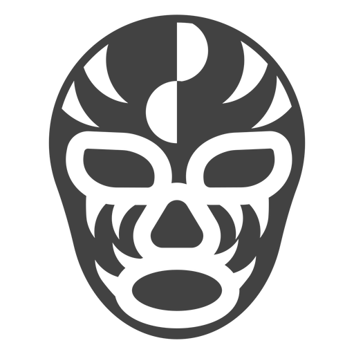 Luchador mask semicircle detailed silhouette Transparent PNG