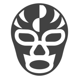 Luchador mask semicircle silhouette detailed