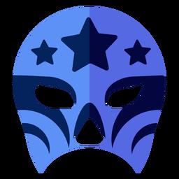 Luchador mask star flat