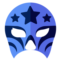 Luchador Maske Stern flach