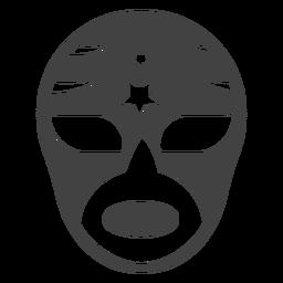 Luchador máscara estrela silhueta detalhada