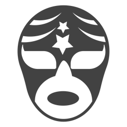 Luchador mask star silhouette detailed