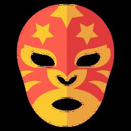 Máscara de luchador plana con rayas de estrellas