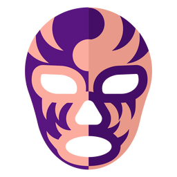 Luchador mask stipe yin and yang flat