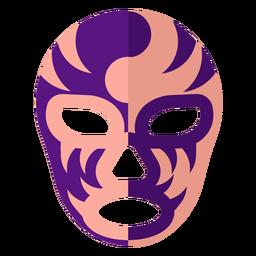 Máscara de luchador stipe yin y yang plana