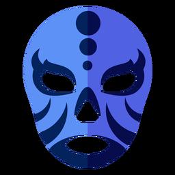 Luchador máscara listra círculo plana