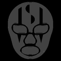 Ausführliche Silhouette des Luchador-Maskenstreifens