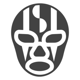 Luchador mask stripe detailed silhouette