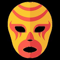 Luchador máscara listra plana