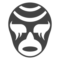 Luchador mask stripe silhouette detailed