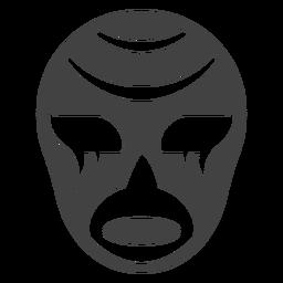 Luchador-Maskenstreifenschattenbild einzeln aufgeführt