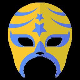 Luchador máscara listra estrela plana
