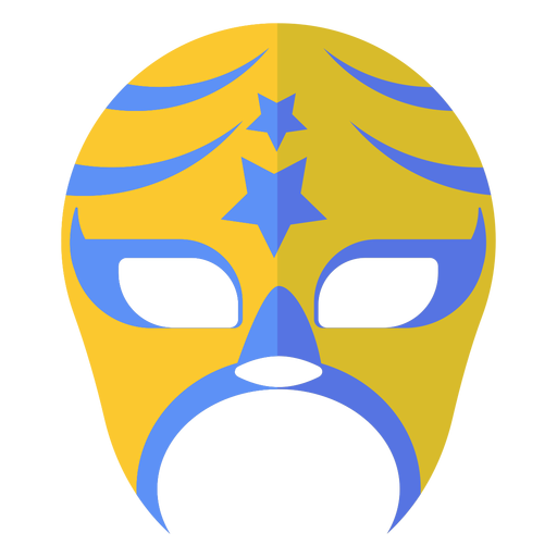 Luchador mask stripe star flat Transparent PNG