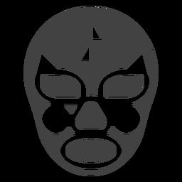 Ausführliche Silhouette des Luchador-Maskendreiecks