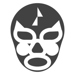 Luchador mask triangle detailed silhouette