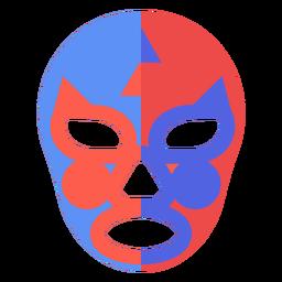 Luchador Maske Yin und Yang flach