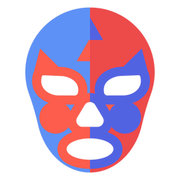 Máscara de luchador yin y yang plana