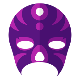 Luchador stripe circle mask flat