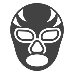 Luchador stripe mask detailed silhouette