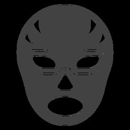 Silhueta detalhada da máscara de listra Luchador