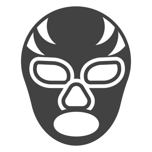 Luchador stripe mask detailed silhouette Transparent PNG