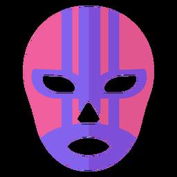 Luchador stripe mask flat