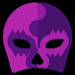 Luchador yin and yang mask flat