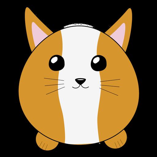 Lynx bobcat lindo hocico hinchado plano Transparent PNG