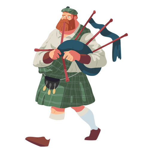 Hombre gaita falda escocesa sporran escocés plana Transparent PNG