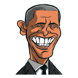 Esboço de barack obama de homem