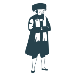 Man jewish old detailed silhouette