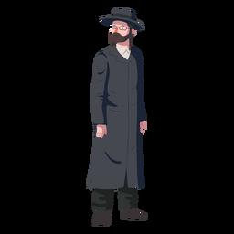 Hombre postura judía plana