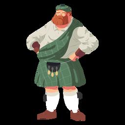 Hombre escocés sporran escocés plano