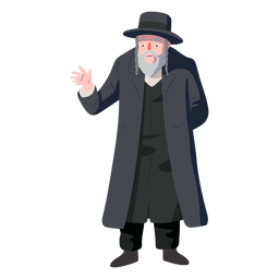 Man old jewish greeting flat