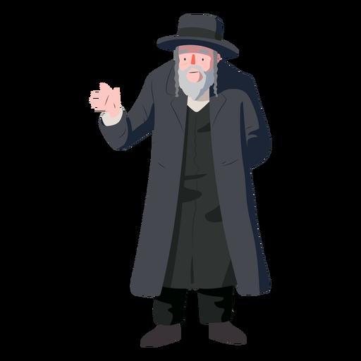 Hombre viejo saludo judío plana Transparent PNG