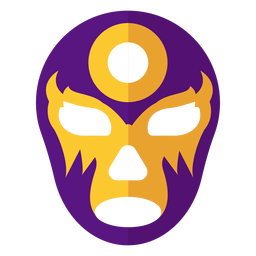 Mask circle luchador flat