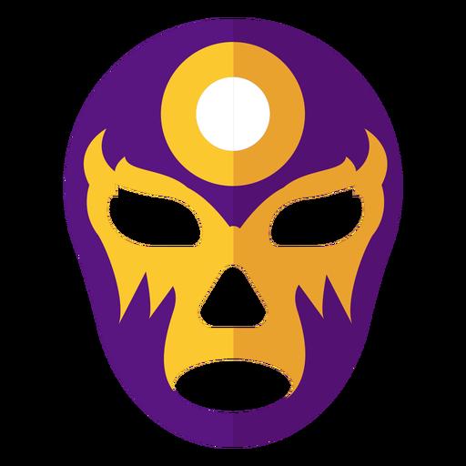 Máscara círculo luchador plana Transparent PNG