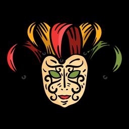 Máscara de rosto plano