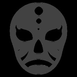 Máscara luchador círculo detalhada silhueta